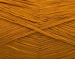 Very thin yarn. It is spinned as two threads. So you will knit as two threads. Yardage information is for only one strand. Fiber Content 100% Acrylic, Brand Ice Yarns, Dark Gold, Yarn Thickness 1 SuperFine  Sock, Fingering, Baby, fnt2-54694