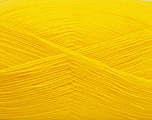Very thin yarn. It is spinned as two threads. So you will knit as two threads. Yardage information is for only one strand. Fiber Content 100% Acrylic, Brand Ice Yarns, Dark Yellow, Yarn Thickness 1 SuperFine  Sock, Fingering, Baby, fnt2-54696