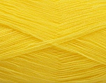 Very thin yarn. It is spinned as two threads. So you will knit as two threads. Yardage information is for only one strand. Fiber Content 100% Acrylic, Brand Ice Yarns, Canary Yellow, Yarn Thickness 1 SuperFine  Sock, Fingering, Baby, fnt2-54697