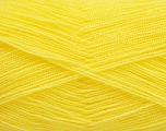 Very thin yarn. It is spinned as two threads. So you will knit as two threads. Yardage information is for only one strand. Fiber Content 100% Acrylic, Yellow, Brand Ice Yarns, Yarn Thickness 1 SuperFine  Sock, Fingering, Baby, fnt2-54698