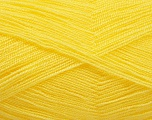 Very thin yarn. It is spinned as two threads. So you will knit as two threads. Yardage information is for only one strand. Fiber Content 100% Acrylic, Yellow, Brand Ice Yarns, Yarn Thickness 1 SuperFine  Sock, Fingering, Baby, fnt2-54699