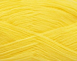 Very thin yarn. It is spinned as two threads. So you will knit as two threads. Yardage information is for only one strand. Fiber Content 100% Acrylic, Light Yellow, Brand Ice Yarns, Yarn Thickness 1 SuperFine  Sock, Fingering, Baby, fnt2-54700
