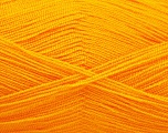Very thin yarn. It is spinned as two threads. So you will knit as two threads. Yardage information is for only one strand. Fiber Content 100% Acrylic, Light Orange, Brand Ice Yarns, Yarn Thickness 1 SuperFine  Sock, Fingering, Baby, fnt2-54702