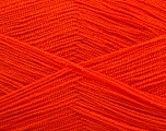Very thin yarn. It is spinned as two threads. So you will knit as two threads. Yardage information is for only one strand. Fiber Content 100% Acrylic, Orange, Brand Ice Yarns, Yarn Thickness 1 SuperFine  Sock, Fingering, Baby, fnt2-54703
