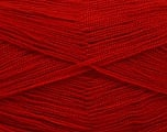 Very thin yarn. It is spinned as two threads. So you will knit as two threads. Yardage information is for only one strand. Fiber Content 100% Acrylic, Red, Brand Ice Yarns, Yarn Thickness 1 SuperFine  Sock, Fingering, Baby, fnt2-54706