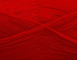 Very thin yarn. It is spinned as two threads. So you will knit as two threads. Yardage information is for only one strand. Fiber Content 100% Acrylic, Red, Brand ICE, Yarn Thickness 1 SuperFine  Sock, Fingering, Baby, fnt2-54707