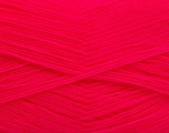 Very thin yarn. It is spinned as two threads. So you will knit as two threads. Yardage information is for only one strand. Fiber Content 100% Acrylic, Neon Pink, Brand Ice Yarns, Yarn Thickness 1 SuperFine  Sock, Fingering, Baby, fnt2-54711