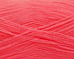 Very thin yarn. It is spinned as two threads. So you will knit as two threads. Yardage information is for only one strand. Fiber Content 100% Acrylic, Salmon, Brand Ice Yarns, Yarn Thickness 1 SuperFine  Sock, Fingering, Baby, fnt2-54714