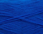 Very thin yarn. It is spinned as two threads. So you will knit as two threads. Yardage information is for only one strand. Fiber Content 100% Acrylic, Royal Blue, Brand ICE, Yarn Thickness 1 SuperFine  Sock, Fingering, Baby, fnt2-54718