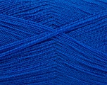 Very thin yarn. It is spinned as two threads. So you will knit as two threads. Yardage information is for only one strand. Fiber Content 100% Acrylic, Brand Ice Yarns, Blue, Yarn Thickness 1 SuperFine  Sock, Fingering, Baby, fnt2-54719