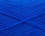 Very thin yarn. It is spinned as two threads. So you will knit as two threads. Yardage information is for only one strand. Fiber Content 100% Acrylic, Brand Ice Yarns, Blue, Yarn Thickness 1 SuperFine  Sock, Fingering, Baby, fnt2-54720