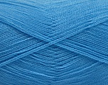 Very thin yarn. It is spinned as two threads. So you will knit as two threads. Yardage information is for only one strand. Fiber Content 100% Acrylic, Light Blue, Brand Ice Yarns, Yarn Thickness 1 SuperFine  Sock, Fingering, Baby, fnt2-54723