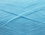 Very thin yarn. It is spinned as two threads. So you will knit as two threads. Yardage information is for only one strand. Fiber Content 100% Acrylic, Brand ICE, Baby Blue, Yarn Thickness 1 SuperFine  Sock, Fingering, Baby, fnt2-54724