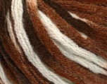 Fiber Content 50% Acrylic, 50% Wool, White, Brand Ice Yarns, Brown Shades, fnt2-54765