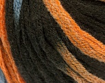 Fiber Content 50% Acrylic, 50% Wool, Orange, Brand Ice Yarns, Brown, Blue, fnt2-54766