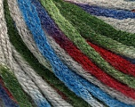 Fiber Content 50% Acrylic, 50% Wool, Brand Ice Yarns, Grey, Green, Burgundy, Blue, fnt2-54767