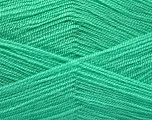 Very thin yarn. It is spinned as two threads. So you will knit as two threads. Yardage information is for only one strand. Fiber Content 100% Acrylic, Mint Green, Brand Ice Yarns, Yarn Thickness 1 SuperFine  Sock, Fingering, Baby, fnt2-54792