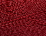 Very thin yarn. It is spinned as two threads. So you will knit as two threads. Yardage information is for only one strand. Fiber Content 100% Acrylic, Brand Ice Yarns, Burgundy, Yarn Thickness 1 SuperFine  Sock, Fingering, Baby, fnt2-54875