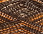 Fiber Content 75% Superwash Wool, 25% Polyamide, Brand Ice Yarns, Gold, Brown Shades, fnt2-54879