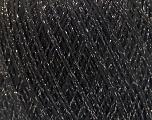 Fiber Content 8% Elastan, 57% Viscose, 24% Polyamide, 11% Metallic Lurex, Silver, Brand Ice Yarns, Black, Yarn Thickness 2 Fine  Sport, Baby, fnt2-54885