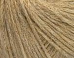 Conţinut de fibre 40% Poliamidă, 40% Lână Merino , 20% In, Brand Ice Yarns, Cream melange, fnt2-54940