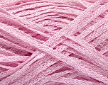 Fiber Content 82% Viscose, 18% Polyester, Pink, Brand Ice Yarns, Yarn Thickness 4 Medium  Worsted, Afghan, Aran, fnt2-54979