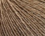 Fiber Content 43% Acrylic, 4% PBT, 36% Alpaca Superfine, 17% Merino Wool, Light Brown Melange, Brand Ice Yarns, Yarn Thickness 2 Fine  Sport, Baby, fnt2-54985