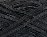 Fiber Content 82% Viscose, 18% Polyester, Brand Ice Yarns, Grey, Black, Yarn Thickness 5 Bulky  Chunky, Craft, Rug, fnt2-55001