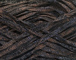 Fiber Content 82% Viscose, 18% Polyester, Brand Ice Yarns, Brown, Black, Yarn Thickness 5 Bulky  Chunky, Craft, Rug, fnt2-55003