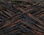 Fiber Content 82% Viscose, 18% Polyester, Brand Ice Yarns, Copper, Black, Yarn Thickness 5 Bulky  Chunky, Craft, Rug, fnt2-55004