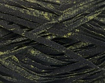 Fiber Content 82% Viscose, 18% Polyester, Brand Ice Yarns, Dark Green, Black, Yarn Thickness 5 Bulky  Chunky, Craft, Rug, fnt2-55005