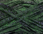 Fiber Content 82% Viscose, 18% Polyester, Brand Ice Yarns, Green, Black, Yarn Thickness 5 Bulky  Chunky, Craft, Rug, fnt2-55006