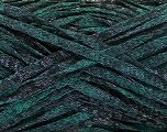 Fiber Content 82% Viscose, 18% Polyester, Brand Ice Yarns, Emerald Green, Black, Yarn Thickness 5 Bulky  Chunky, Craft, Rug, fnt2-55007
