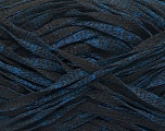 Fiber Content 82% Viscose, 18% Polyester, Brand Ice Yarns, Blue, Black, Yarn Thickness 5 Bulky  Chunky, Craft, Rug, fnt2-55008