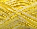 Fiber Content 82% Viscose, 18% Polyester, Yellow, White, Brand Ice Yarns, Yarn Thickness 5 Bulky  Chunky, Craft, Rug, fnt2-55017