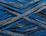 Fiber Content 82% Viscose, 18% Polyester, Brand Ice Yarns, Grey, Blue, Yarn Thickness 5 Bulky  Chunky, Craft, Rug, fnt2-55027