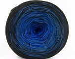 Fiber Content 50% Acrylic, 50% Cotton, Brand ICE, Blue Shades, Black, Yarn Thickness 2 Fine  Sport, Baby, fnt2-55060