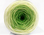 Fiber Content 50% Acrylic, 50% Cotton, Brand ICE, Green Shades, Cream, Yarn Thickness 2 Fine  Sport, Baby, fnt2-55064