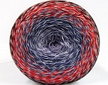 Fiber Content 50% Cotton, 50% Acrylic, White, Red, Maroon, Lilac Shades, Brand Ice Yarns, fnt2-55071