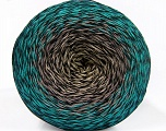 Fiber Content 50% Cotton, 50% Acrylic, Turquoise, Brand Ice Yarns, Grey Shades, Green Shades, Black, Yarn Thickness 2 Fine  Sport, Baby, fnt2-55073