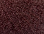 Knitted as 4 ply Fiber Content 40% Polyamide, 30% Kid Mohair, 30% Acrylic, Maroon, Brand Ice Yarns, fnt2-55083