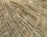 Fiber Content 32% Acrylic, 30% Polyamide, 24% Mohair, 14% Wool, Brand Ice Yarns, Cream melange, fnt2-55098