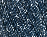 Fiber Content 70% Cotton, 30% Viscose, White, Navy, Brand Ice Yarns, fnt2-55113