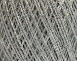 Fiber Content 56% Viscose, 44% Polyamide, Silver, Brand Ice Yarns, fnt2-55119