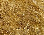 Kuitupitoisuus 60% Polymidi, 40% Metallinen Lurex, Yellow, Brand Ice Yarns, Gold, fnt2-55136