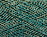 Fiber Content 35% Cotton, 35% Acrylic, 30% Viscose, Brand Ice Yarns, Green, Camel, fnt2-55195