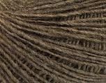 Fasergehalt 50% Merinowolle, 25% Alpaka, 25% Acryl, Brand Ice Yarns, Brown, fnt2-55201
