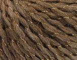 Fiber Content 58% Acrylic, 2% Lurex, 15% Alpaca, 15% Wool, 10% Viscose, Brand ICE, Gold, Camel, fnt2-55235