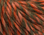 Fiber Content 50% Merino Wool, 25% Acrylic, 25% Alpaca, Salmon, Orange, Khaki, Brand Ice Yarns, Yarn Thickness 5 Bulky  Chunky, Craft, Rug, fnt2-55239