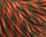 Fiber Content 50% Merino Wool, 25% Alpaca, 25% Acrylic, Salmon, Orange, Khaki, Brand Ice Yarns, fnt2-55239